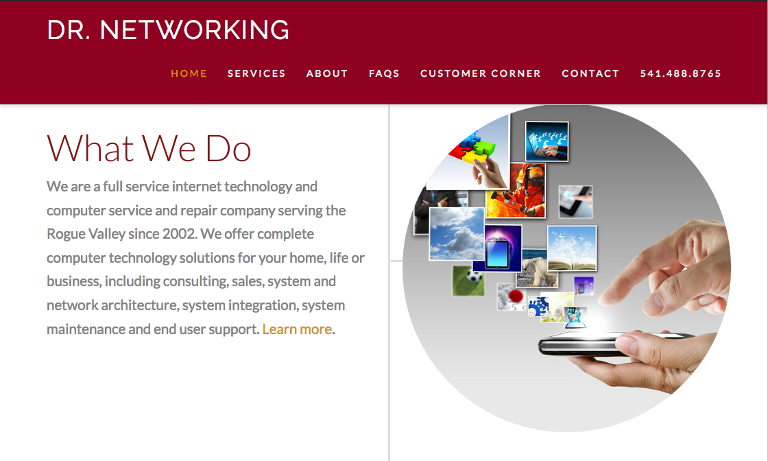Dr. Networking Website Design