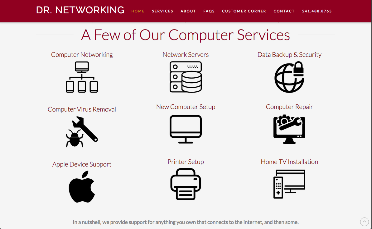 Dr. Networking Website Design