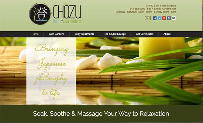 Chozu Website Design