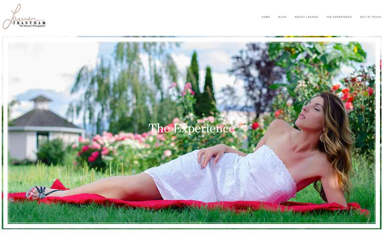 Lauren Trantham Website Design